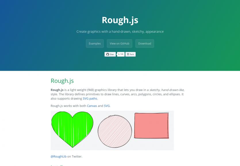Rough.js: Créez des formes avec effet dessiné main en Canvas