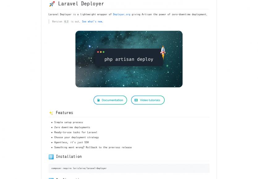 Laravel Deployer: Intégration de Deployer dans votre projet Laravel en quelques secondes