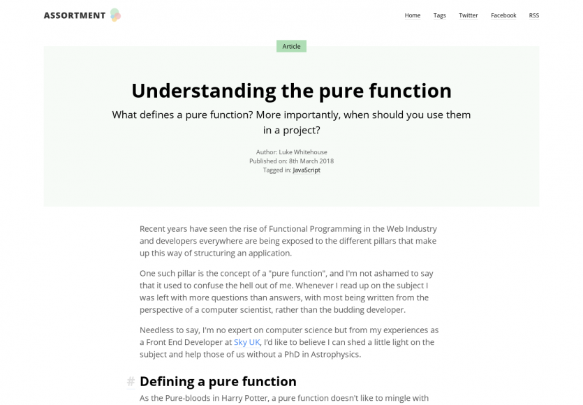 Comprendre le concept de pure function