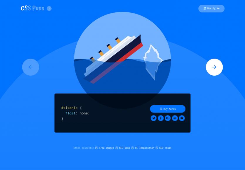 CSS Puns: Des animations CSS avec une bonne touche d'humour