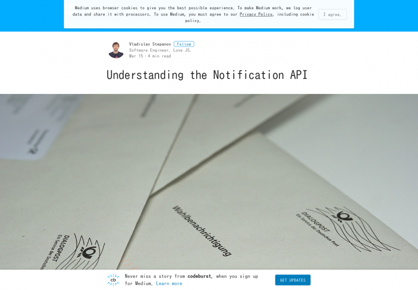 Bien comprendre et utiliser l'API Notification web