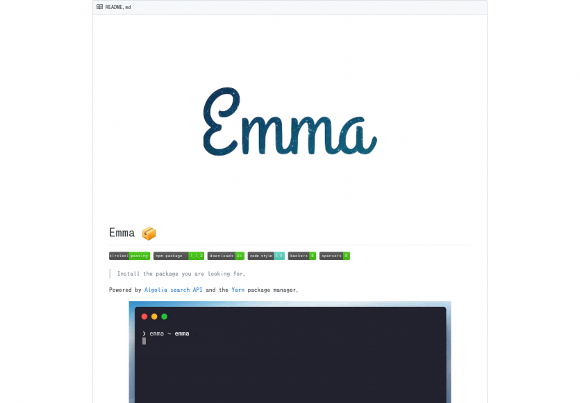Emma Cli: un outil en console permettant de rechercher dans les repo npm