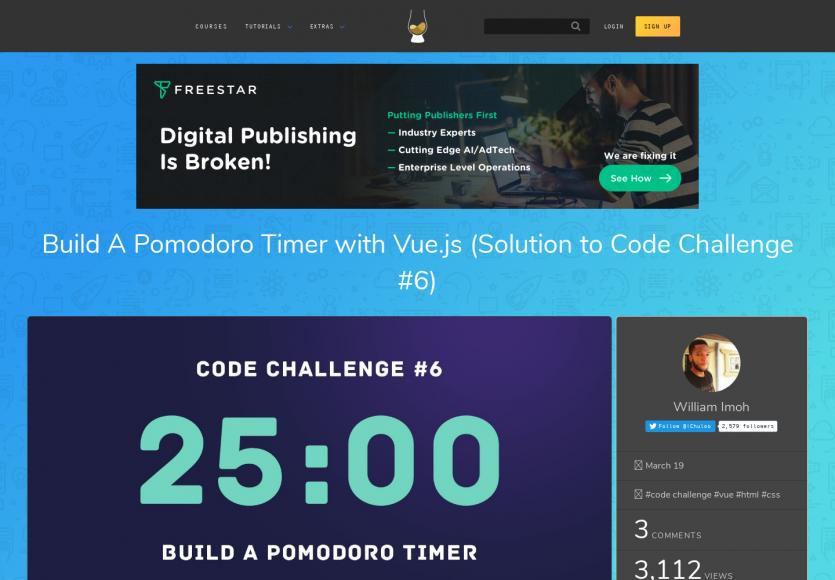 Créer un timer Pomodoro en Vue.js