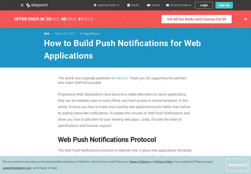 Comment mettre en place un système de notifications push pour vos web apps