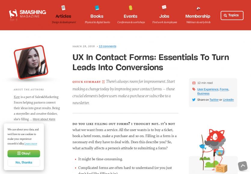 L'UX dans les formulaires de contact pour optimiser les conversions