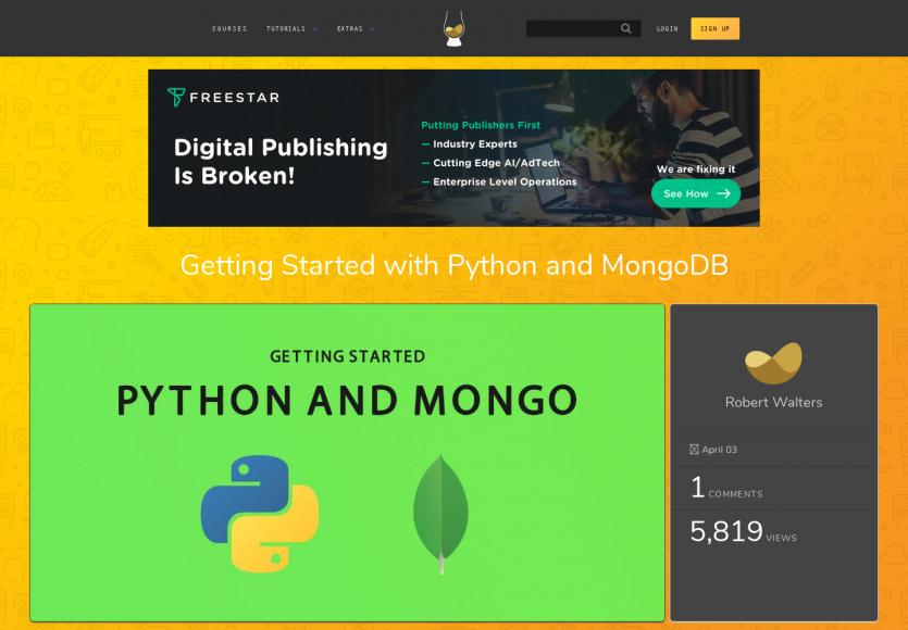 Bien démarrer avec Python et MongoDB
