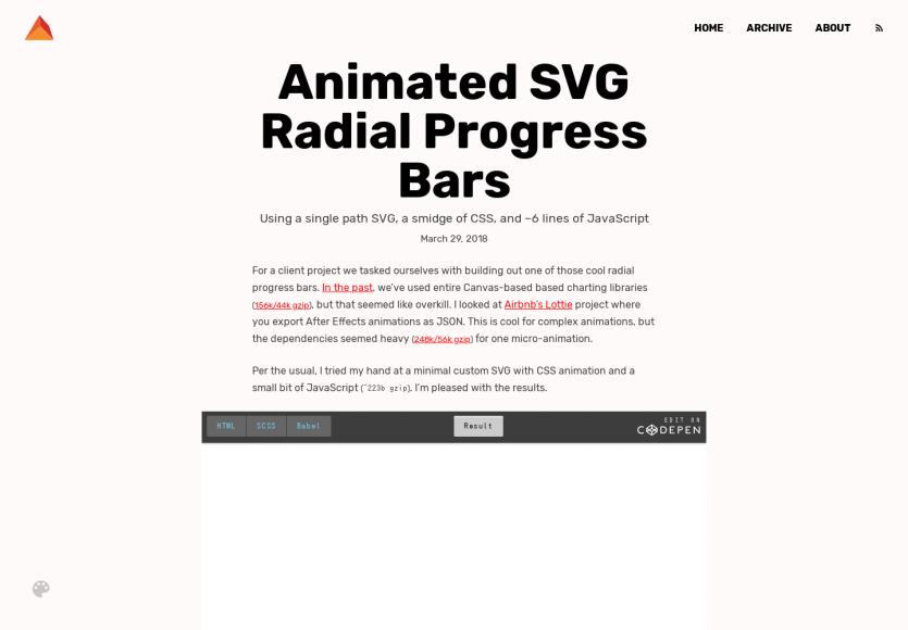Des progress bar SVG radial animées