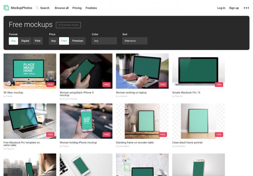 120 mockups gratuits pour mettre vos interfaces en scène pour vos présentations