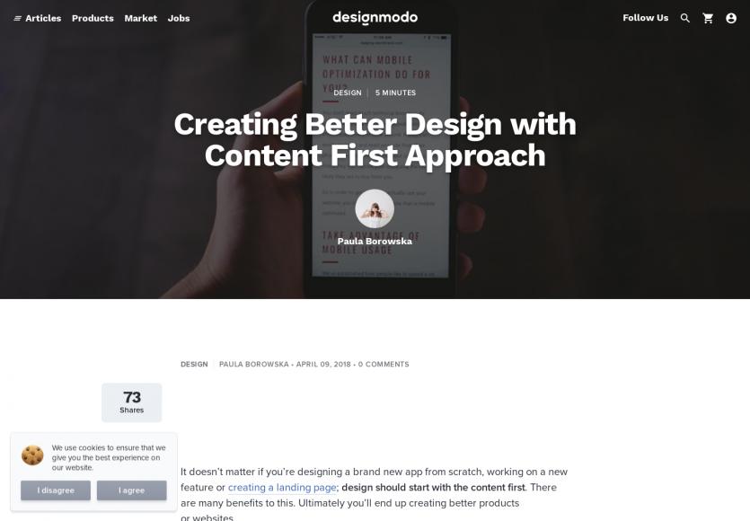 Créer de meilleurs design avec une approche contenu first