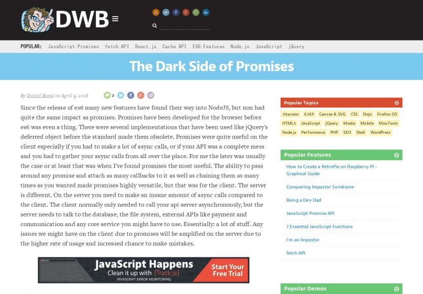Le côté obscur des Promises Javascript