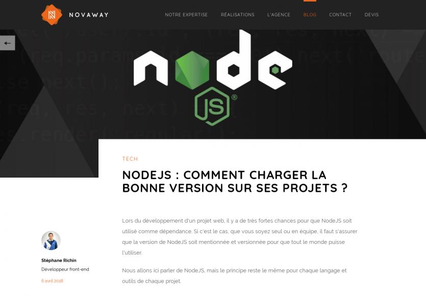 Node.js - Comment charger la bonne version sur ses projets ?