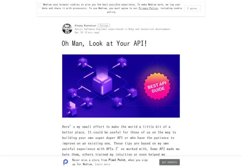Un guide qui passe en revue les bonnes pratiques à appliquer dans son API