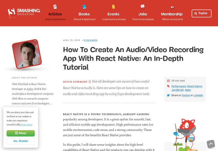 Comment créer une application d'enregistrement audio en React Native