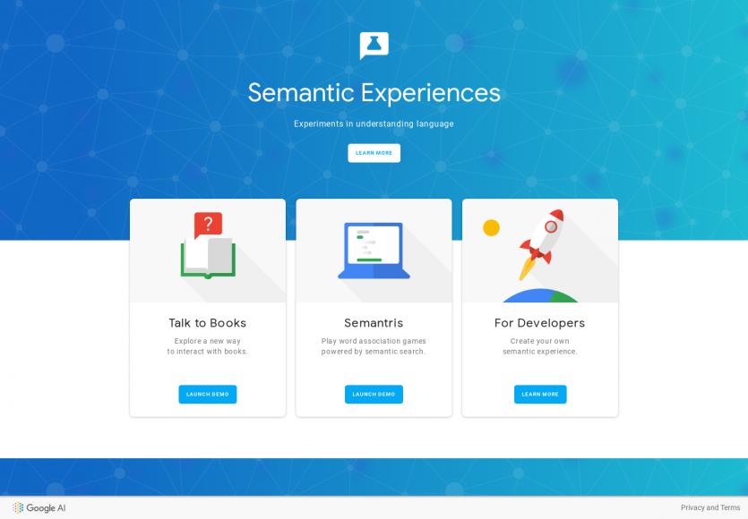 Semantic Experiences: Des expérimentations Google pour comprendre un langage