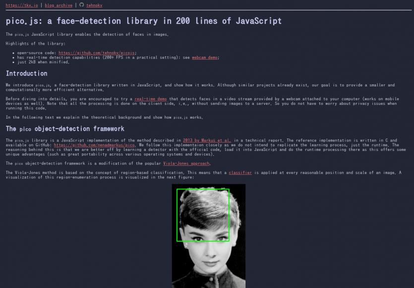 PicoJS: De la détection de visage en 200 lignes de code Javascript