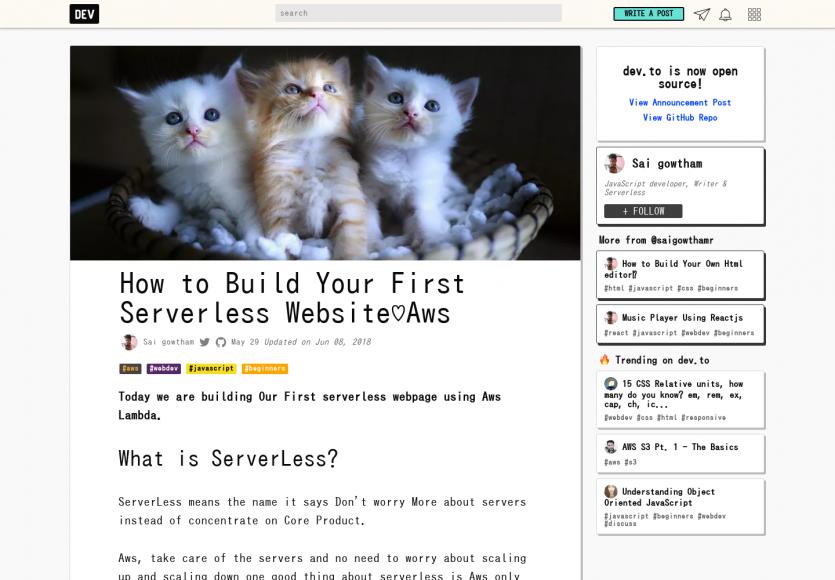 Créer un site web serverless avec AWS Lambda