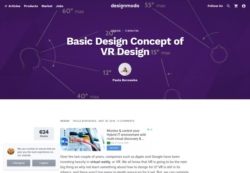 Les concepts du design d'application en réalité virtuelle