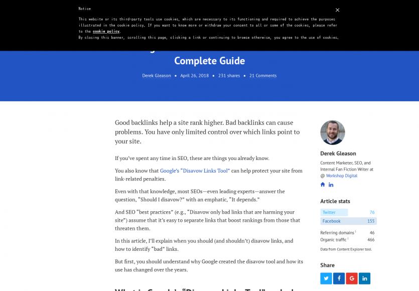 Un guide sur l'outil de désaveux de liens Google pour son SEO