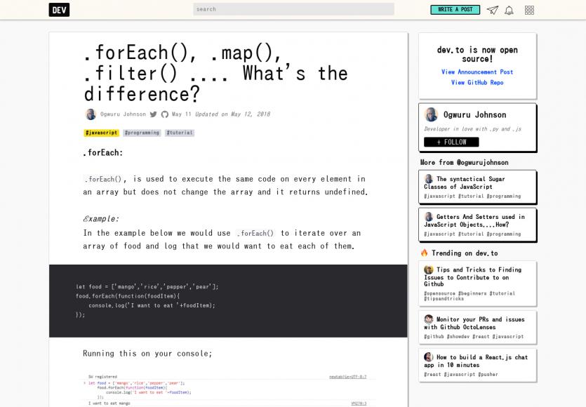 .forEach(), .map(), .filter(), quelles différences ?