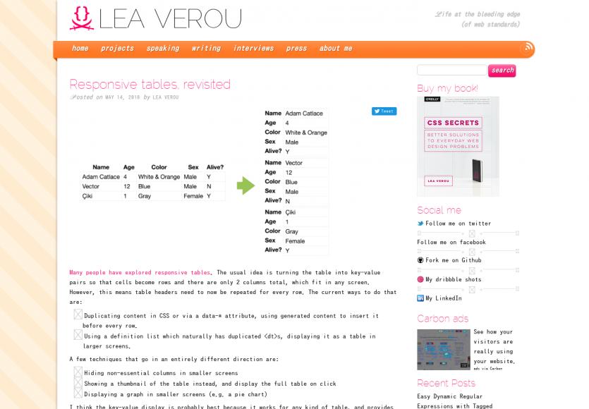 Les tableaux responsive revisités par Léa Verou