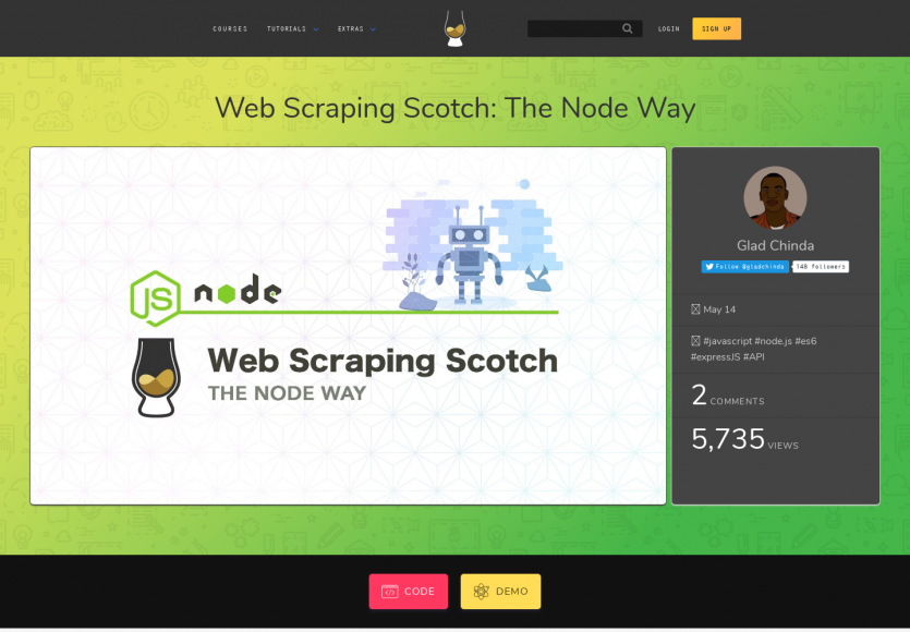 Créer une API à partir d'un site web en faisant du web scraping en Node.js