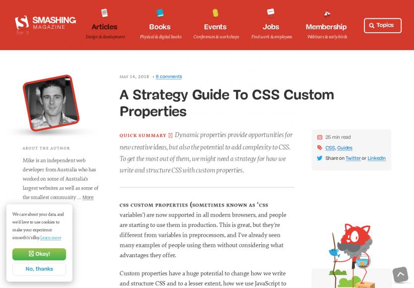 Un guide sur la stratégie à adopter autour des CSS Custom properties