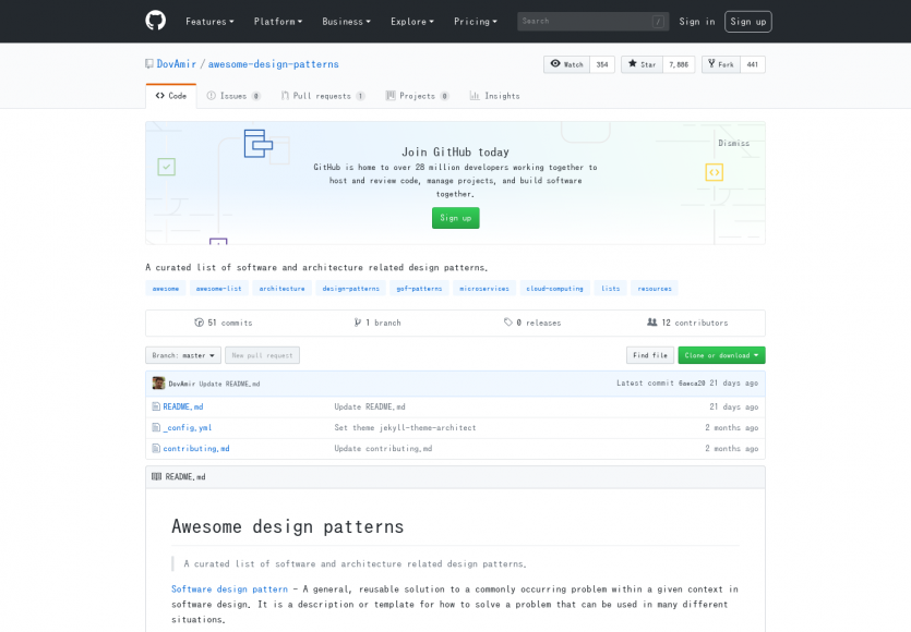 Awesome Design Patterns: Une liste de ressources sur l'architecture et les designpatterns