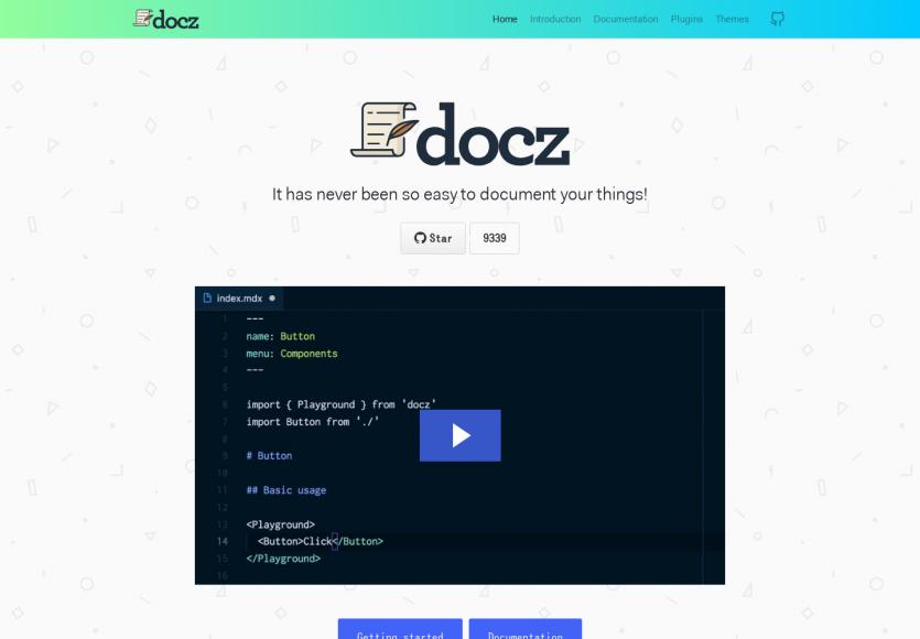 Docz: Un outil de création de documentation très simple à utiliser et complet