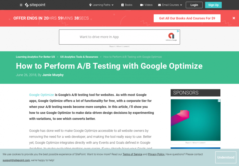 Comment faire de l'A/B Testing avec Google Optimize