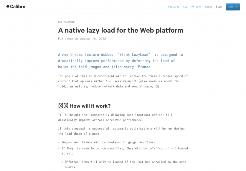 Blink LazyLoad: La nouvelle fonctionnalité Chrome pour du Lazy load natif