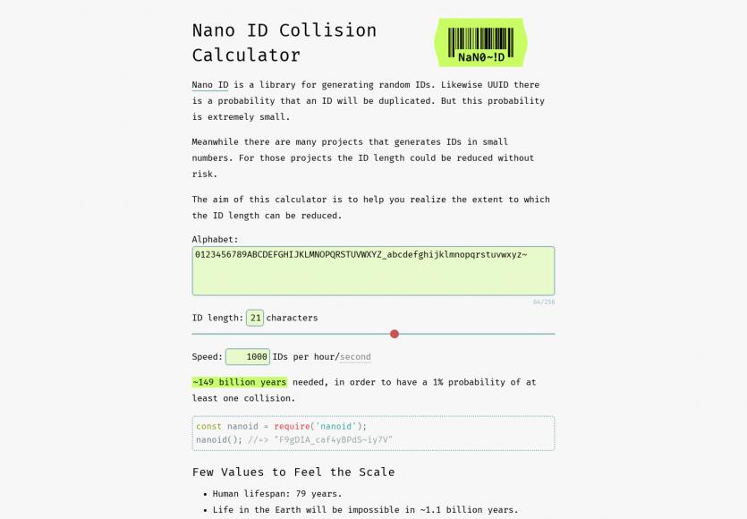 Nano ID: Une lib Javascript pour générer des ID uniques courts