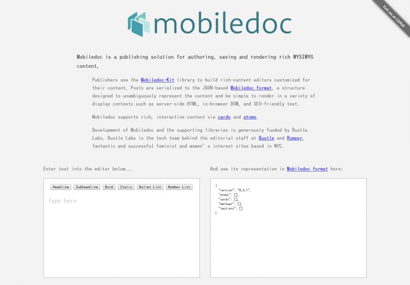 Mobile Doc: Un framework permettant de créer vos propres éditeurs WYSIWYG