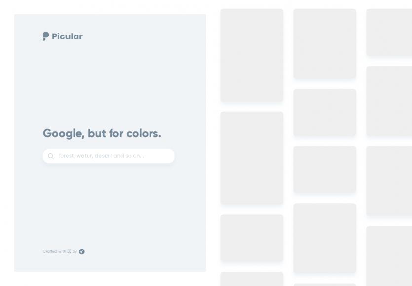 Picular: Recherchez des couleurs associées à des mots clés