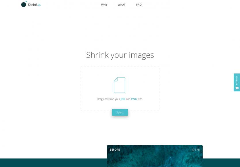 ShrinkMe: Un service pour compresser vos images en ligne sans perte de qualité