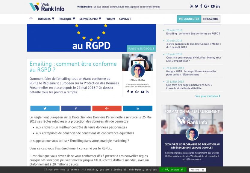 Comment être compatible RGPD dans vos campagnes d'emailings
