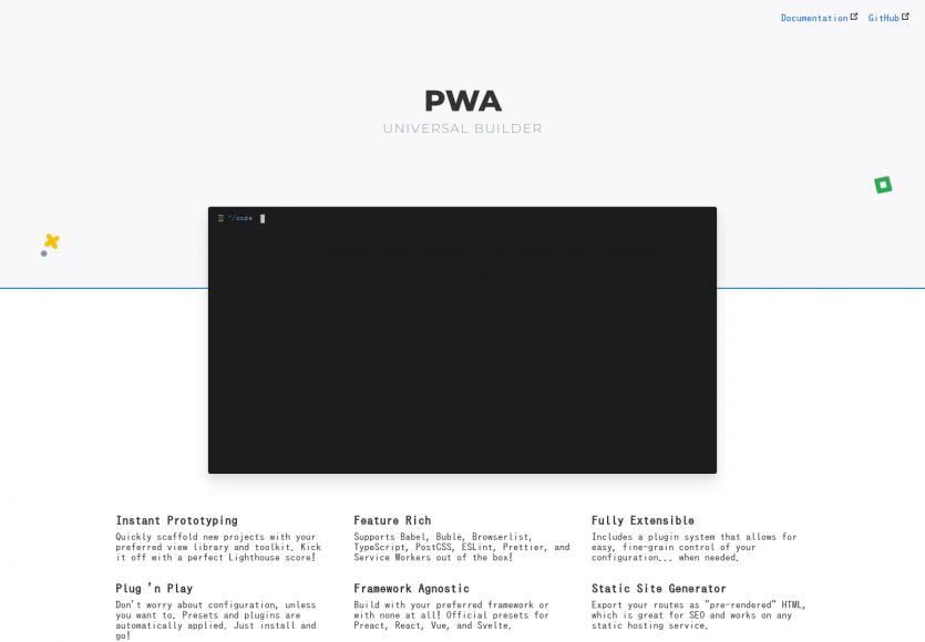 PWA Universal Builder: Générez votre PWA avec les libs JS et features souhaitées en console