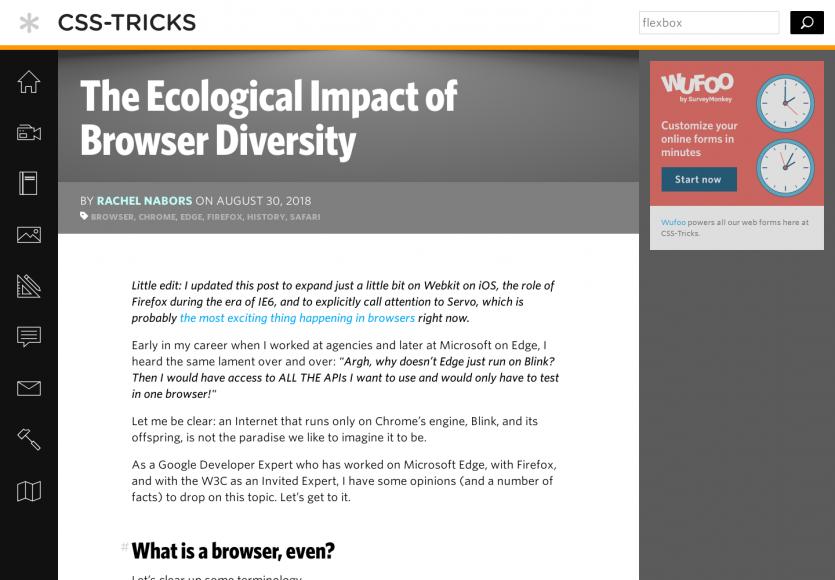 L'évolution des navigateurs web dans notre éco-système