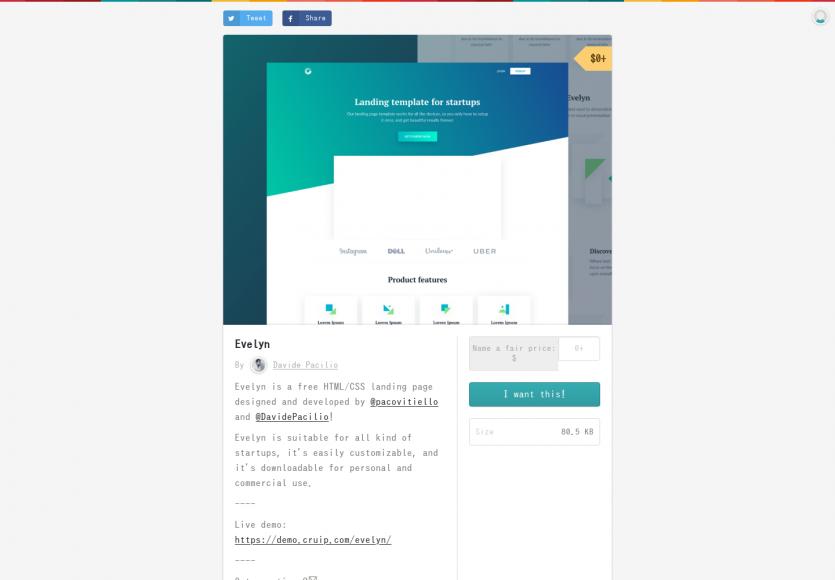Une landing page pour startups en HTML/CSS à télécharger gratuitement