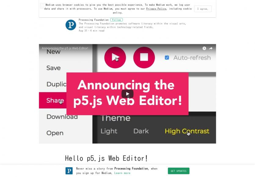 P5.js - Un éditeur de code en ligne dédié à l'apprentissage du code
