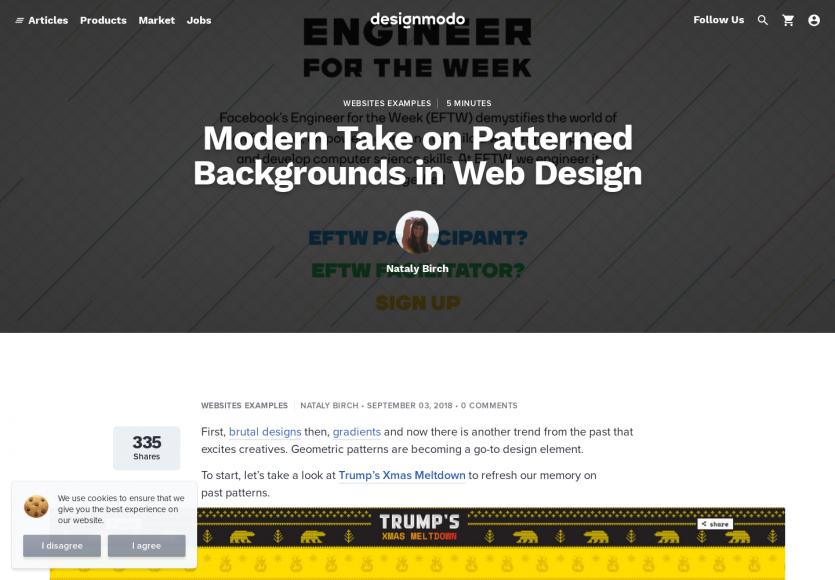 Un guide sur l'utilisation de patterns en background en webdesign