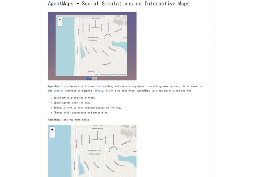 AgentMaps: Créez des simulations d'habitants sur des cartes Leaflet