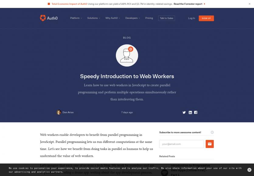 Une belle introduction pour comprendre et utiliser des Web Workers sur vos pages web