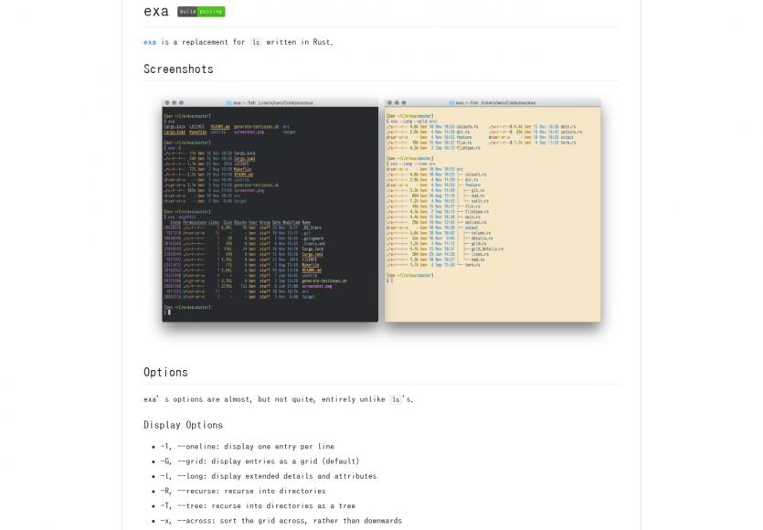 Exa - Améliorez les listes des fichiers sur votre console en remplaçant LS par Exa