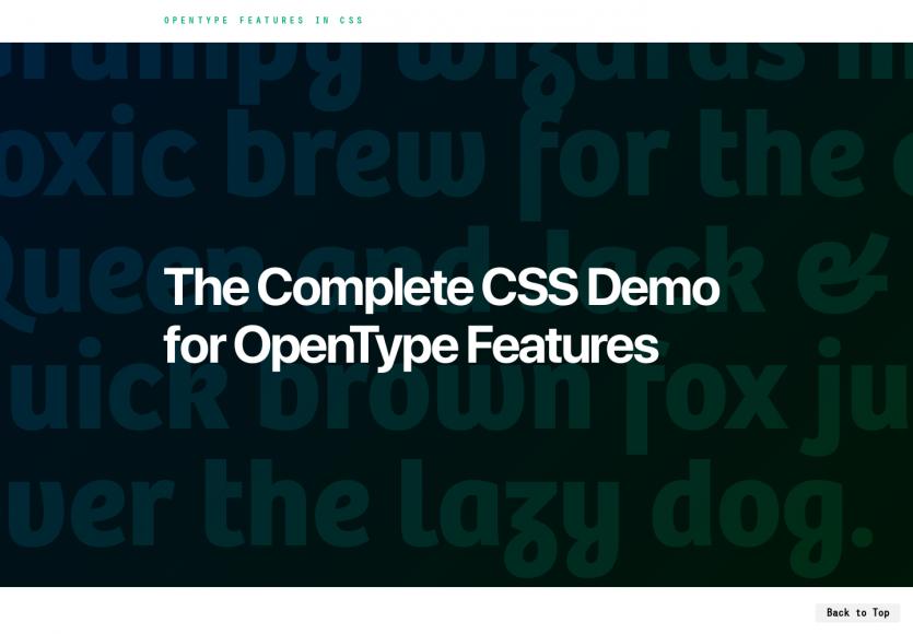 Un guide complet sur les fonctionnalités CSS OpenType avec démos