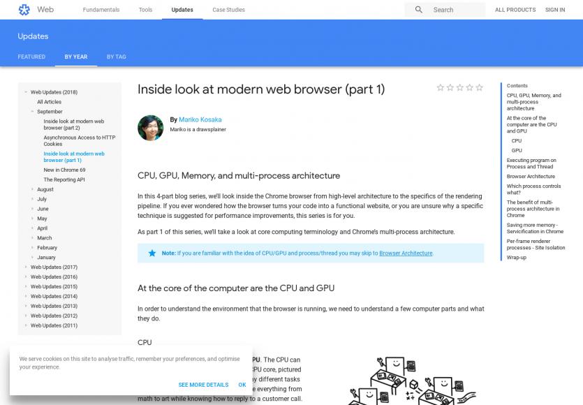 Plongez dans le cœur d'un navigateur web moderne (CPU, mémoire, architecture...)