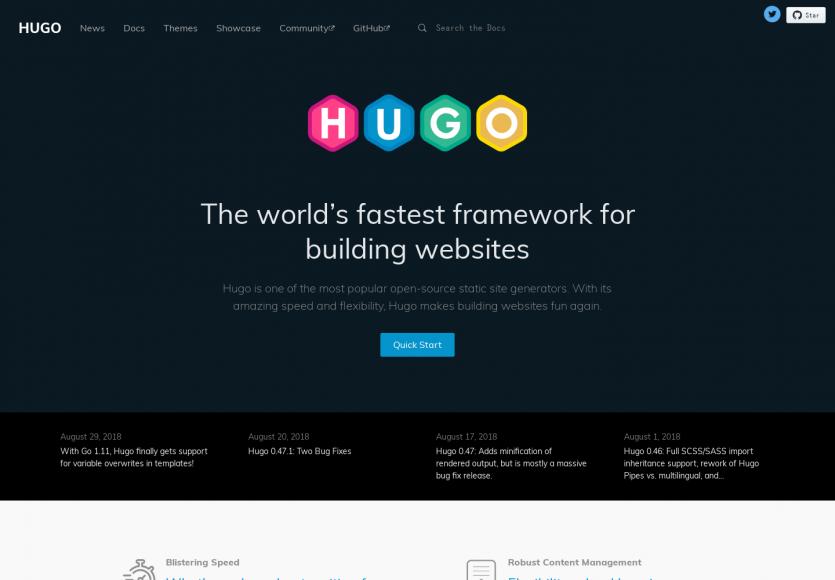 hugo: Un générateur de sites statiques avancé développé en Go
