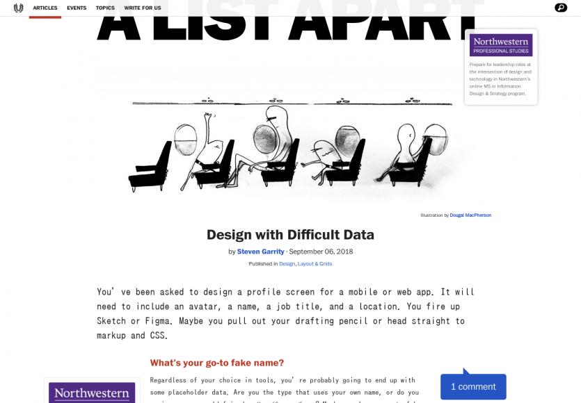 Designer des interfaces avec des données non idéales