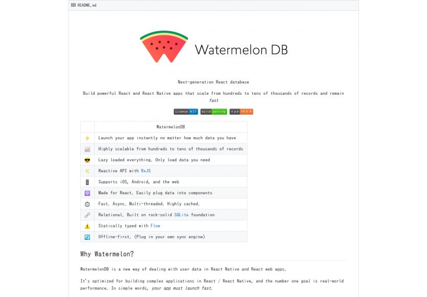 WatermelonDB: Une base de données pour React.js performante et hautement scalable