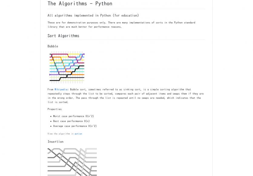 Les principaux algorithmes de tris, recherche et chiffrement implémentés en Python