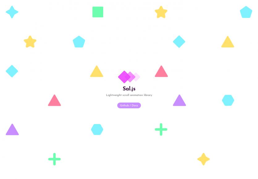 Sal: Une lib Javascript très légère pour faire de l'animation au scroll efficacement